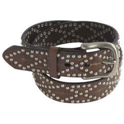 Nocona Nailhead Belt - Leather (For Men)