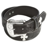 Nocona Floral Tooled Belt - Leather (For Men)