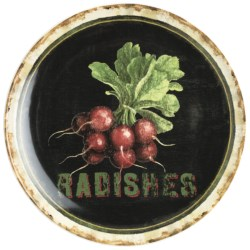 Certified International Radishes Serving Platter - Ceramic, 15""