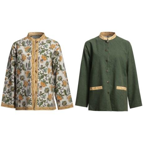 Orvis Cotton Print Jacket - Reversible (For Women)