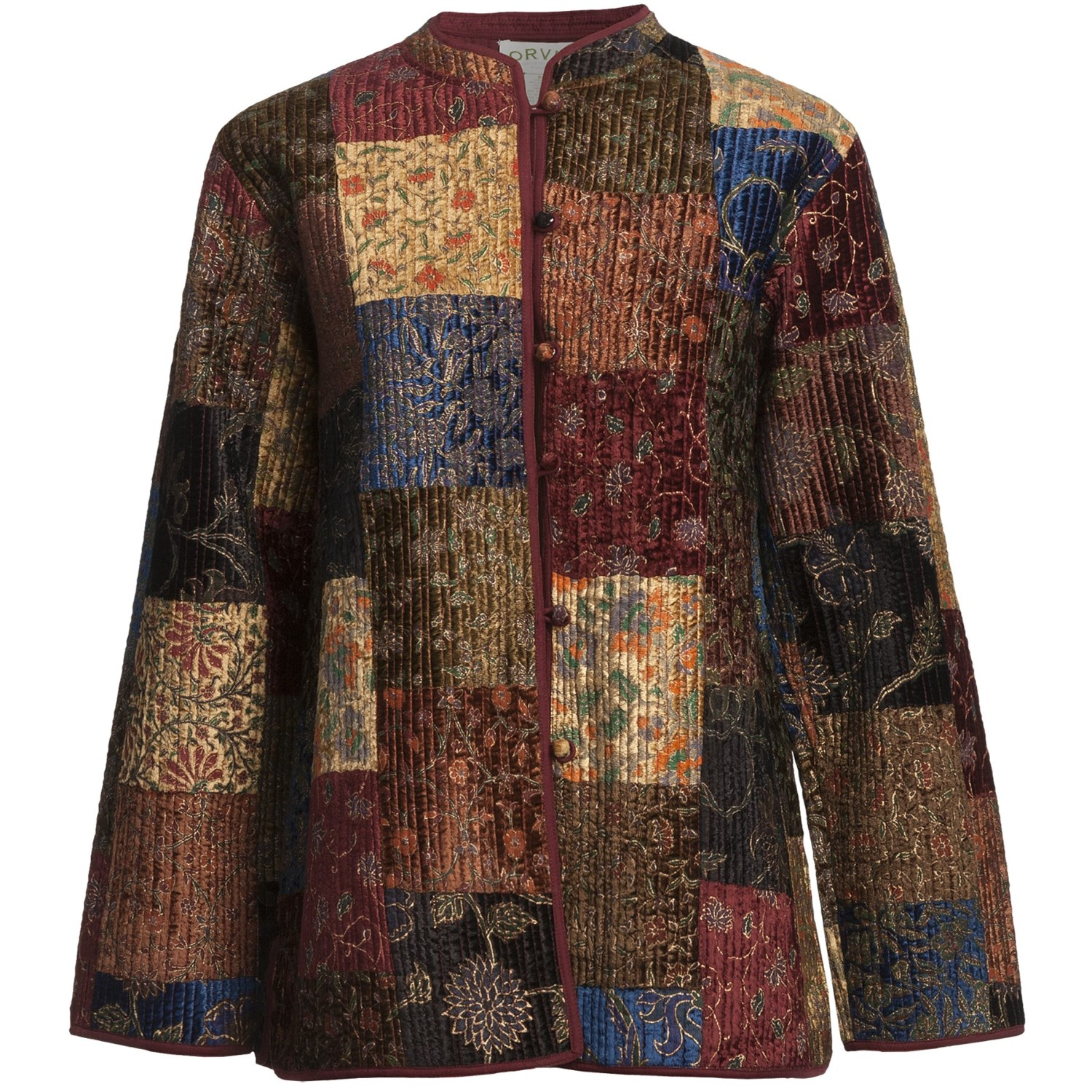 Orvis Quilted Velvet Patchwork Jacket For Women 5776a