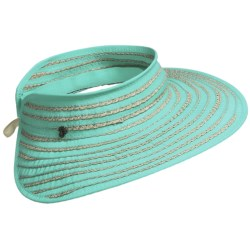 Tommy Bahama Ribbon and Paper Braid Visor (For Women)