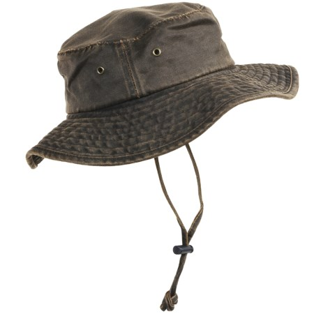 Dorfman Pacific Headwear Boonie Hat - Weathered Cotton, UPF 50+ (For Men and Women)