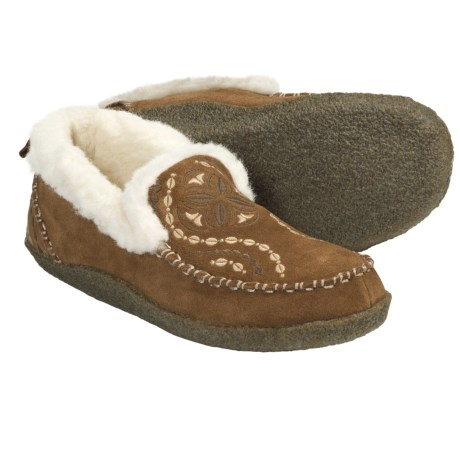 Acorn Mikka Slippers - Suede, Wool Fleece-Lined (For Women)