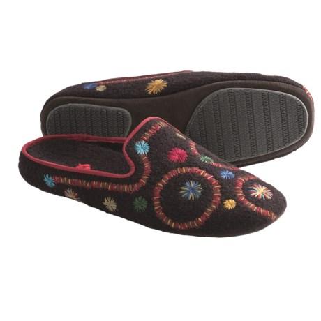 Acorn Gala Slippers - Boiled Wool (For Women)