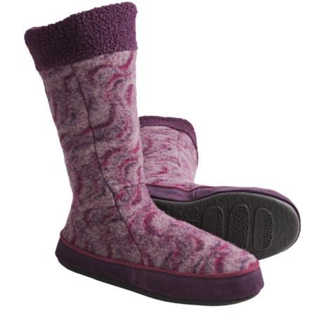 Acorn Joslyn Boot Slippers - Italian Wool (For Women)
