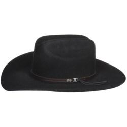 Bailey Hawkes Cowboy Hat - 5X Wool Felt, Cheyenne Crown (For Men and Women)