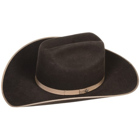 Bailey Carter Cowboy Hat - 6X Felt, Cattleman Crown (For Men and Women)