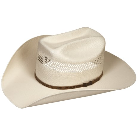 Bailey Hamilton Cowboy Hat - 10X Shantung Straw, Mustang Crown (For Men and Women)
