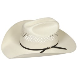 Bailey Burke Cowboy Hat - 7X Shantung Straw, Cattleman Crown (For Men and Women)