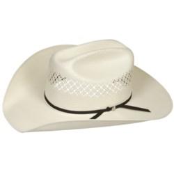 Bailey Burke Cowboy Hat - 7X Shantung Straw, Cattleman Crown (For Men and Women)