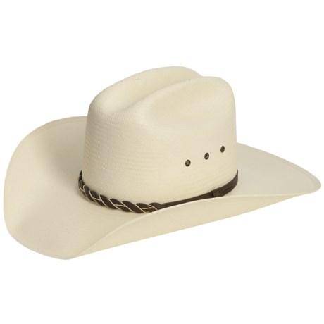 Bailey Adler Cowboy Hat - Shantung Straw, Cattleman Crown (For Men and Women)