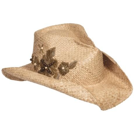Eddy Bros. by Bailey Maven Cowboy Hat - Raffia Straw, Pinch Crown (For Men and Women)