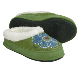 Acorn Flower Power Mule Slippers (For Girls)