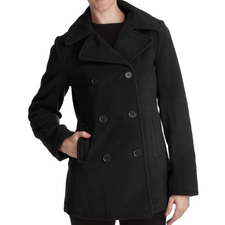 Excelled Pea Coat - Insulated (For Plus Size Women)