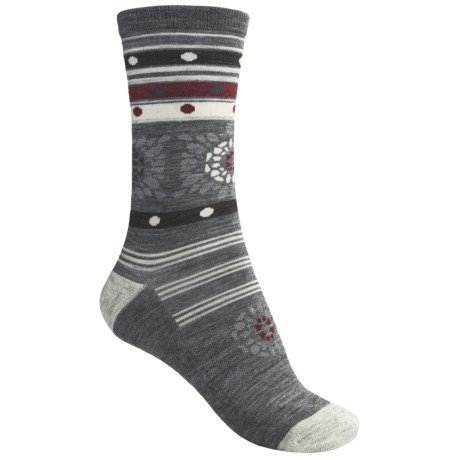 SmartWool Lifestyle Motley Flower Socks - Merino Wool Blend, Lightweight, Crew (For Women)