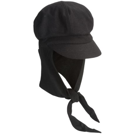 Betmar Boy Meets Girl Knit Cap - Attached Scarf (For Women)