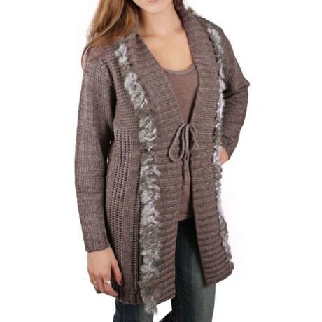 Ethyl Fur-Trimmed Sweater - Tunic Length (For Women)