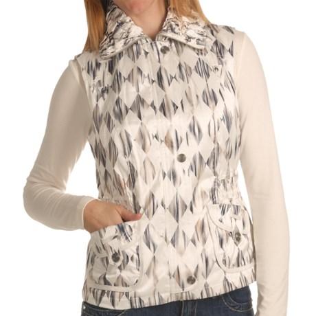 Ethyl Watercolor Vest - Crush Collar (For Women)