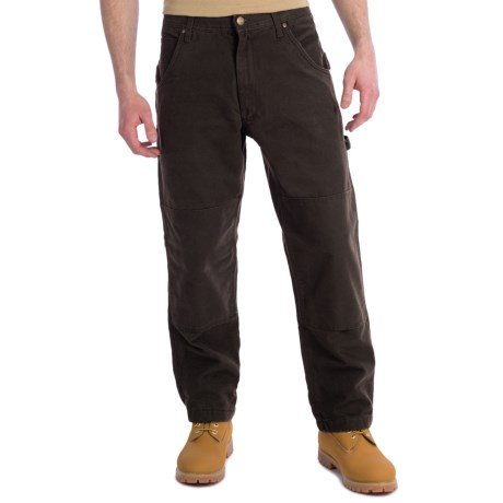 Lakin Mckey Canvas Duck Dungaree Work Pants - Flannel-Lined, Relaxed Fit (For Men)