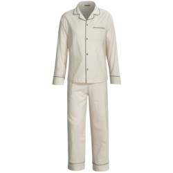 Coyuchi Classic Flannel Pajamas - Long Sleeve (For Women)