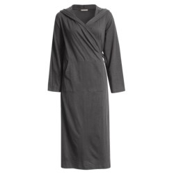 Coyuchi Slub Jersey Cotton Hooded Robe - Long Sleeve (For Women)