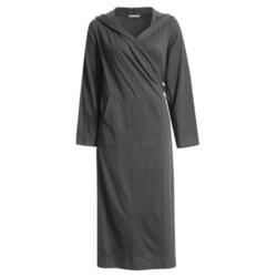 Coyuchi Slub Jersey Cotton Hooded Robe - Long Sleeve (For Women)