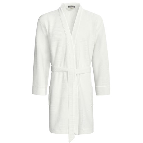 Coyuchi Rustic Waffle Robe - Long Sleeve (For Men and Women)
