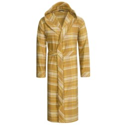 Coyuchi Cloud Robe - Brushed Flannel, Hooded, Long Sleeve (For Men and Women)