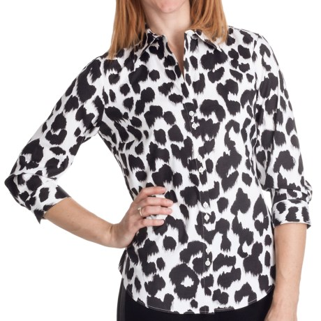 Paperwhite Animal Print Shirt - 3/4 Sleeve (For Women)
