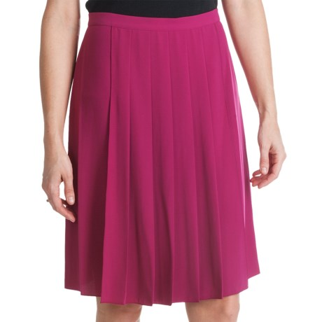 Paperwhite Pleated Crepe Skirt (For Women)