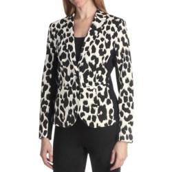 Paperwhite Animal Print Jacket (For Women)