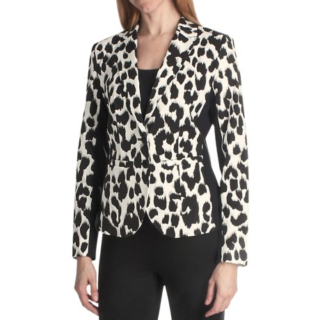 Paperwhite Animal Print Jacket (For Women)