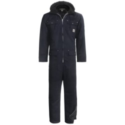 Work King Heavy-Duty Twill Coveralls - Insulated, Side Zips, Removable Hood (For Men)