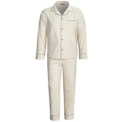 Coyuchi Classic Flannel Pajamas - Organic Cotton, Long Sleeve (For Men)