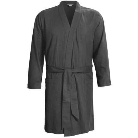 Coyuchi Slub Jersey Robe - Organic Cotton, Long Sleeve (For Men)