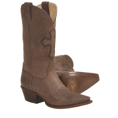 "Sonora Faith and Hope Cowboy Boots - Leather, 11"", Snip Toe (For Women)"