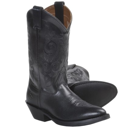 """Double H 12"""" Smooth Leather Cowboy Boots - R-Toe (For Women)"""