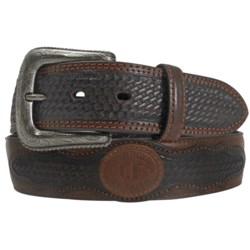 Cowboys of Faith Basket Weave Overlay Belt - Leather (For Men)