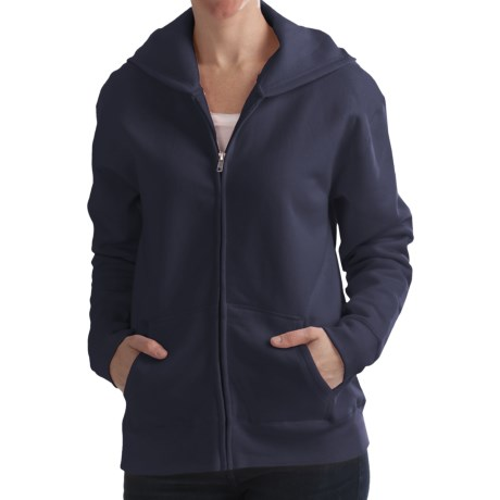 Hanes Cotton-Rich Hoodie Sweatshirt - Full Zip, 7.5 oz. (For Women)