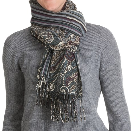 La Fiorentina Reversible Wool Scarf (For Women)
