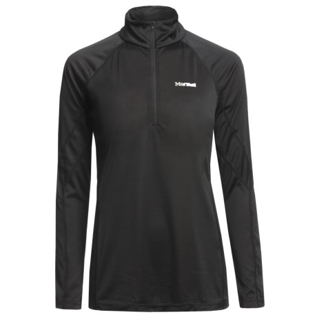 Marmot Polartec® PowerDry® Base Layer Top - Lightweight, Zip Neck, Long Sleeve (For Women)