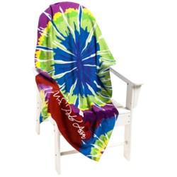 "U.S. Polo Assn. Tie-Dye Burst Beach Towel - 34x64"""