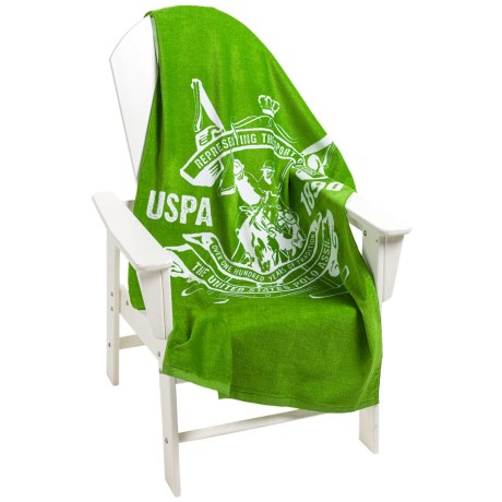 U.S. Polo Assn. Palm Spring Crest Beach Towel - 30x60""