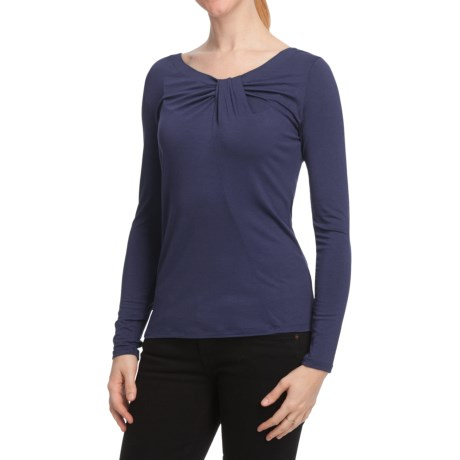 Twisted V-Neck Shirt - Long Sleeve (For Women)