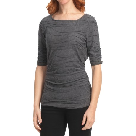 Boat Neck Shirt - Elbow Sleeve (For Women)