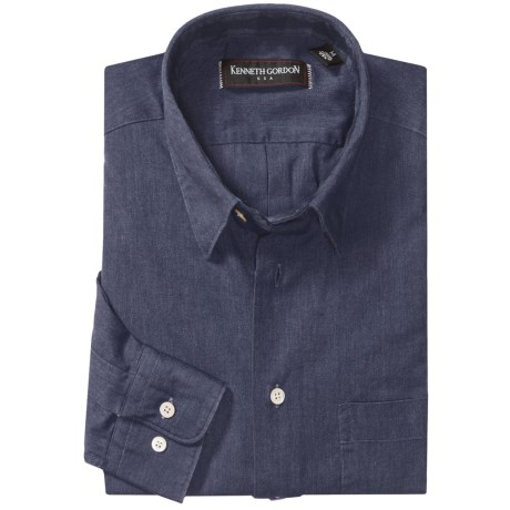 Kenneth Gordon Cotton-Linen Sport Shirt - Long Sleeve (For Men)