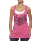 Ariat Printed Lace Tank Top - Scoop Neck (For Women)