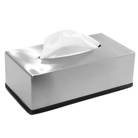 Oggi OGGI Rectangle Tissue Box Cover - Stainless Steel