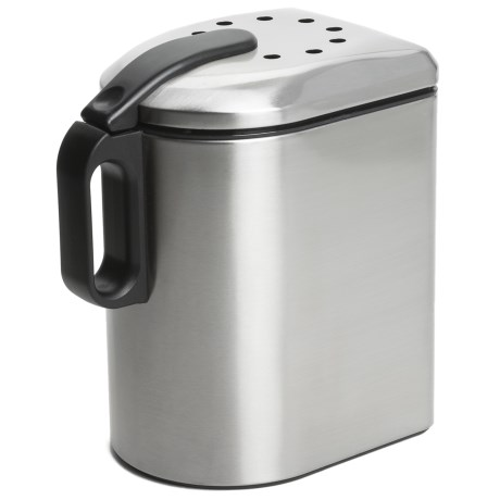 Oggi Deluxe Countertop Compost Pail - 3.8L, Stainless Steel